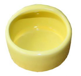 Pet Supplies One Ceramic Feeding Pot Anti-splash Food Bowl Water Box For Squirrel Hedgehog Hamster 7.5x5.5CM Yellow