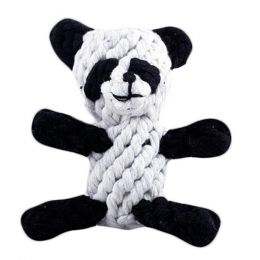 Dog Puppy Molar Toys Creative Pet Knot Rope Ball Chew Toy-Panda