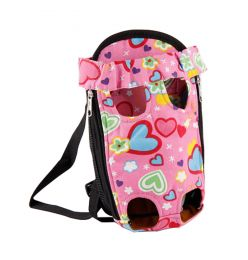 Portable Travel Front Backpack Carrier Bag For Pets PINK (Suitable for 2-4kg)