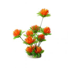 Emulational Plants Aquarium Decor Fish Tank Decoration,Orange Flower