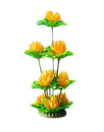 Emulational Plants Aquarium Decor Fish Tank Decoration,Yellow Flower