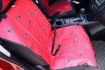 "Paw Print Waterproof Solid Color Single Seat Dog Car Seat Cover (21""Wx41""L)"