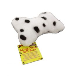 Squeaking Soft Dog Bone with Animal Print 24 Pack
