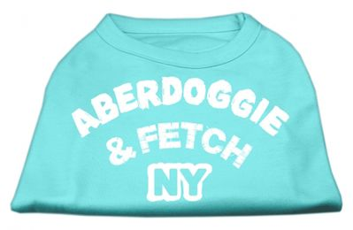 Aberdoggie NY Screenprint Shirts Aqua Large (14)