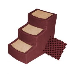 Designer Stair IIIWith Removable Cover, Burgundy