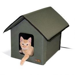 "K&H Pet Products Outdoor HEATED Kitty House 22"" x 18"" x 17"""